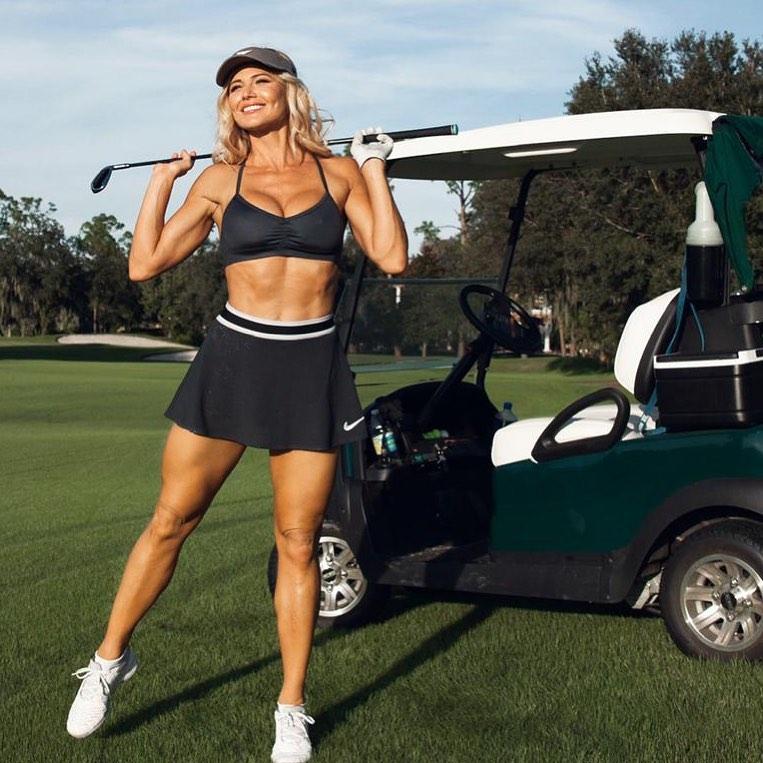 Golfer Babe Torrie Wilson