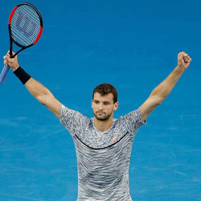 Grigor Dimitrov beats Denis Istomin during day 8 of Australian Open 2017