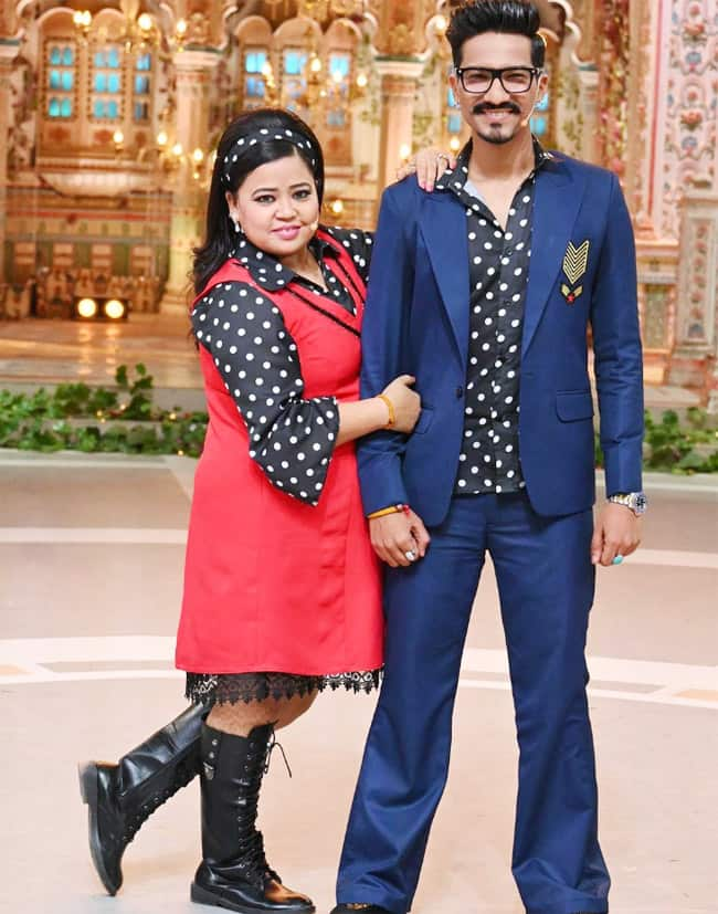 Haarsh Limbachiyaa will be seen in blue suit with black polka shirt