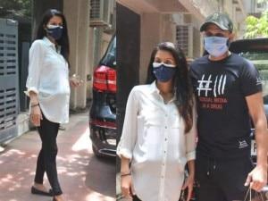 Pregnant Geeta Basra Flaunts Baby Bump; Spotted Outside Clinic With Husband Harbhajan Singh | SEE PICS