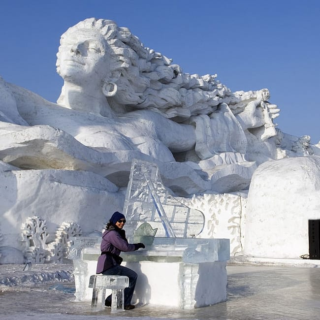 Harbin at Heilongjiang in China