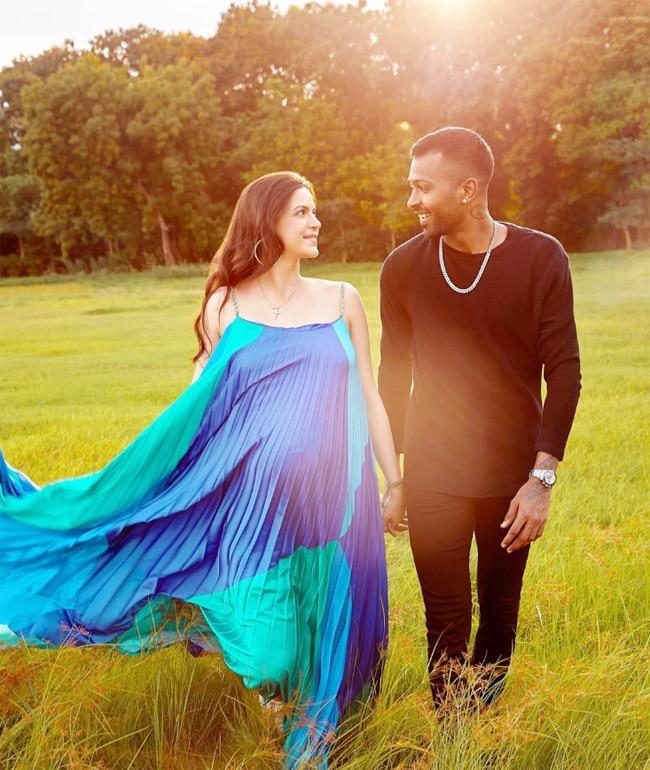 Hardik Pandya Shares His Wife Natasa Stankovic   s Glowing Pics