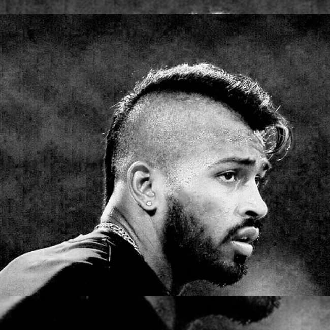 Hardik Pandya   s picture with a cool hairstyle