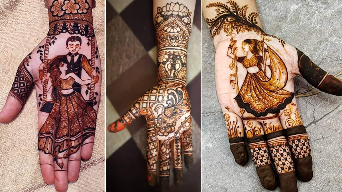 Hariyali Teej 2021  Try These Fashionable Henna Designs to Adorn Your Hands