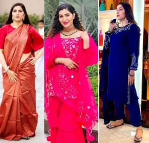 Sapna Choudhary looks ethereal in traditional outfits, flaunts her beauty post pregnancy