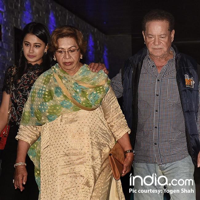 Helen with husband Salim Khan on her 79th birthday