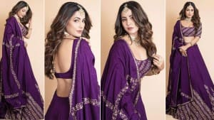 Hina Khan Looks Regal in Her Purple Lehenga, Fans Call Her Royalty Personified