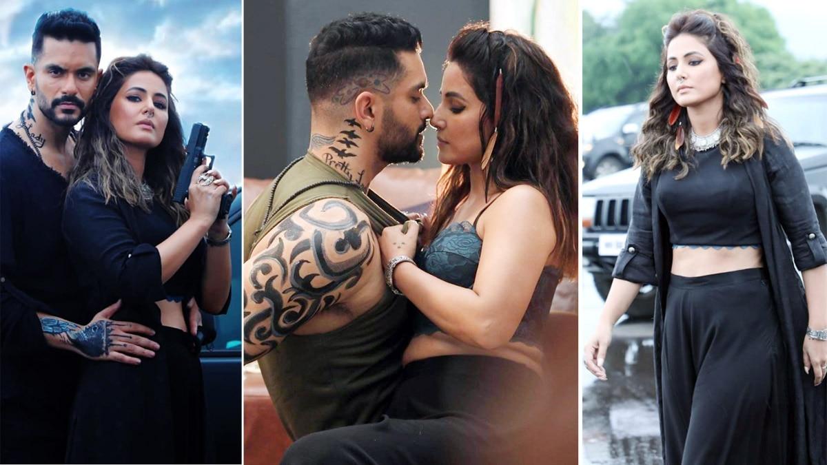 Hina Khan and Angad Bedi are scorching it up in Main Bhi Barbaad Teaser