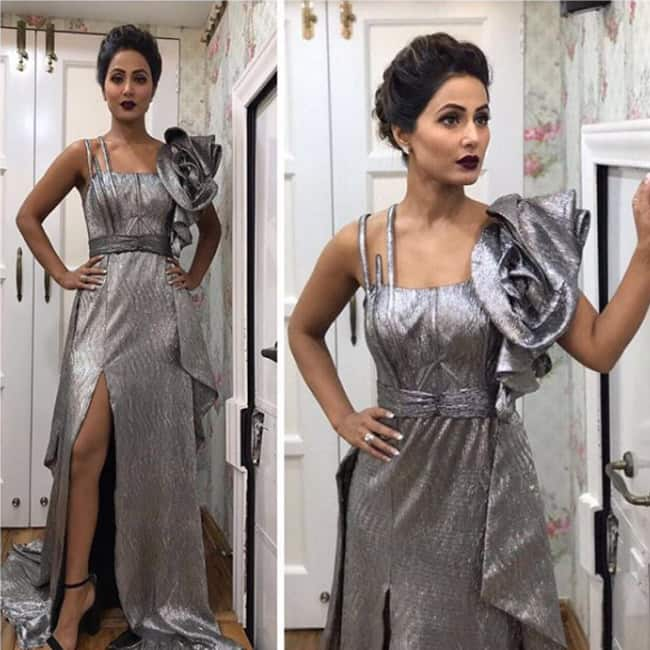 Hina Khan at launch episode of Bigg Boss 11