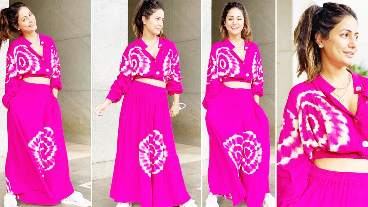 Hina Khan Coloured Our Screens Happy in a Pink Tie Dye Separates