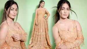 Hina Khan Wears This Heavily Embroidered Anarkali And She Looks Gorgeous - See Pictures