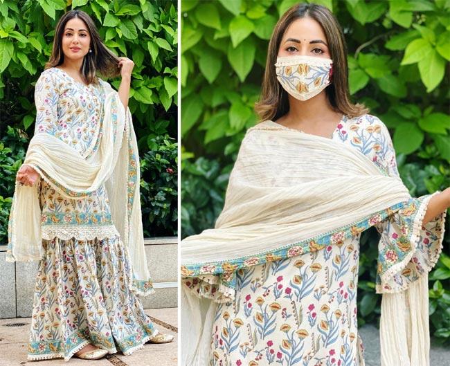 Hina Khan dresses up for festive season