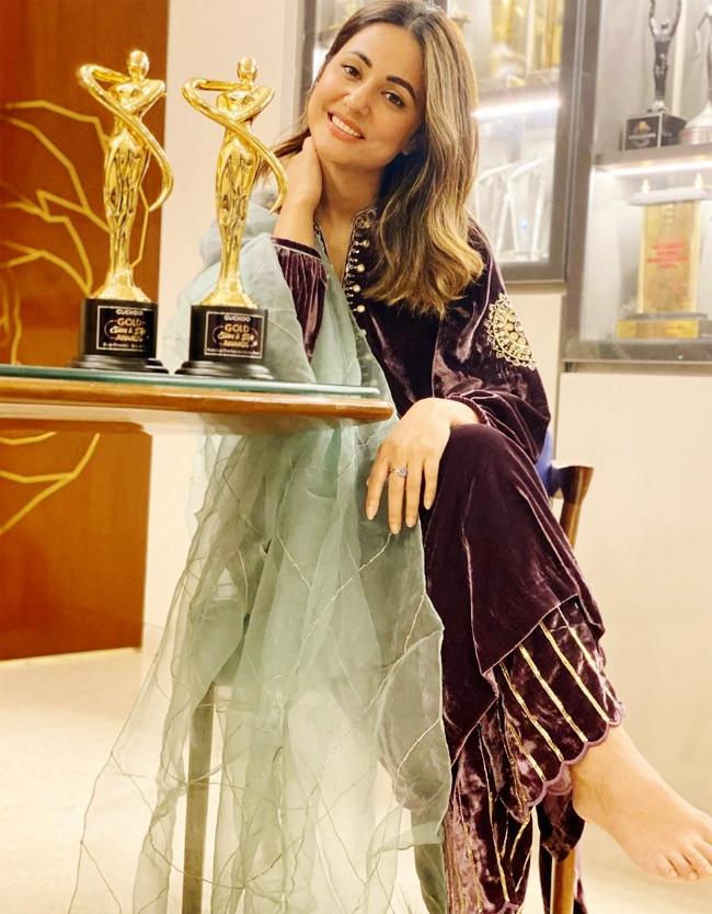 Hina Khan Flaunts Her Latest Win