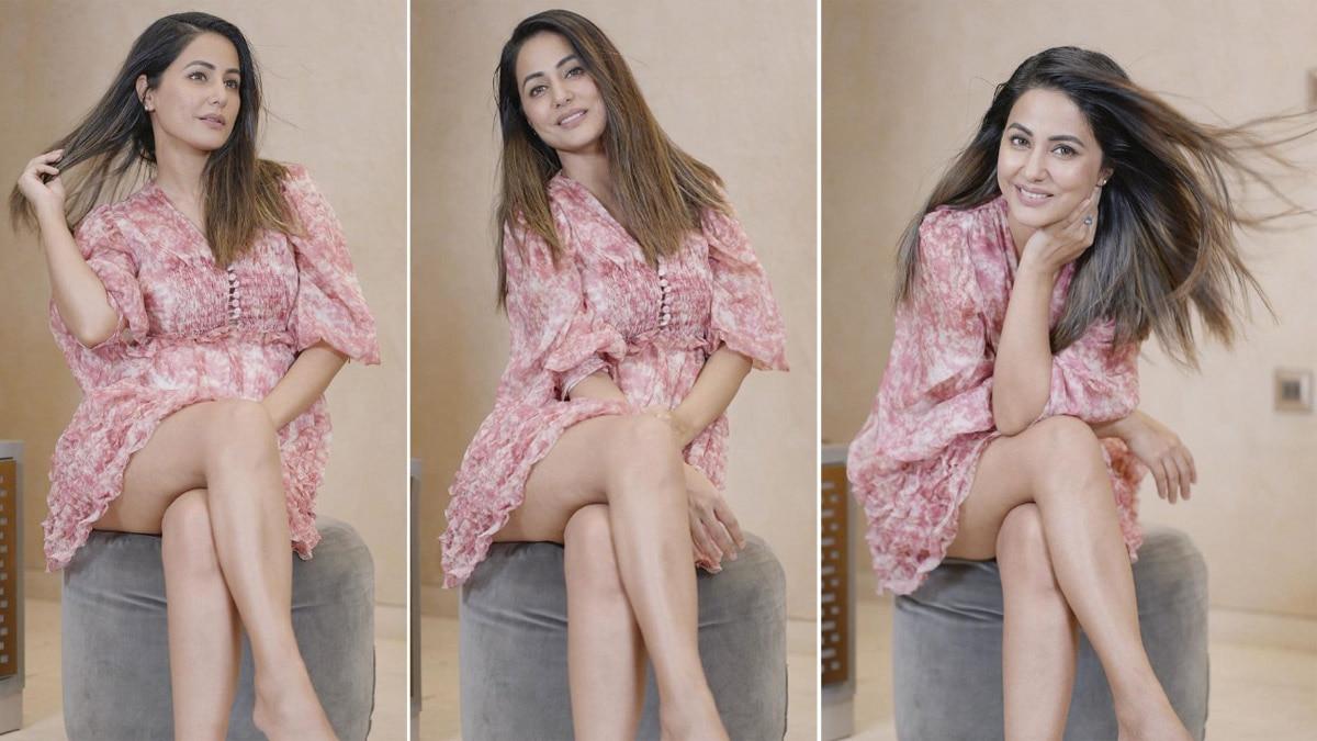 Hina Khan Flaunts Summer Fashion In Breezy Pink Floral Dress