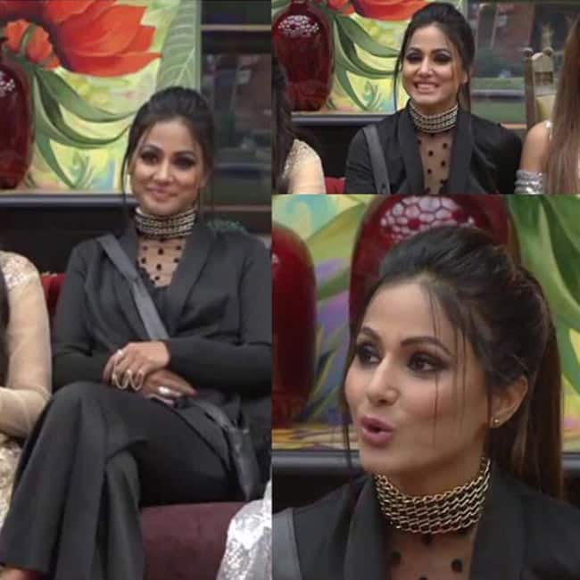 Hina Khan in Palaniquine outfit inside Bigg Boss    house
