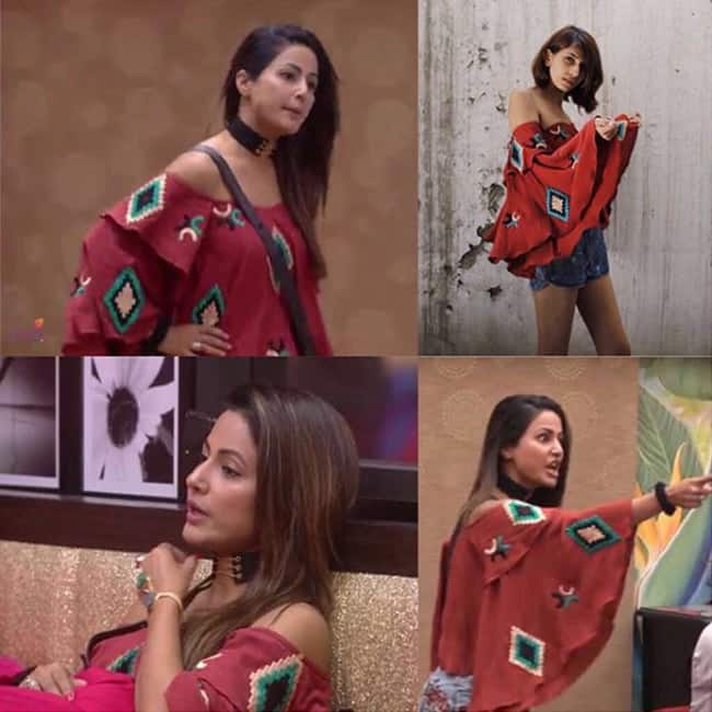 Hina Khan in The For Example top inside Bigg Boss    house