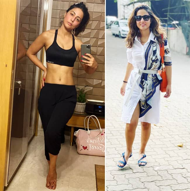 Hina Khan in Workout Outfit