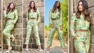 Hina Khan Slays In Super Hot Floral Pantsuit and You Really Can't Stop 'Focusing' On Her