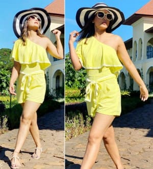 Hina Khan is a Ray of Sunshine in a Vibrant Yellow Playsuit| See Viral PHOTOS