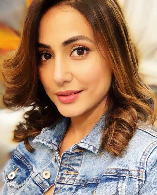 Hina Khan Makes Heads Turn With Her Crazy Photos in Denim Jacket