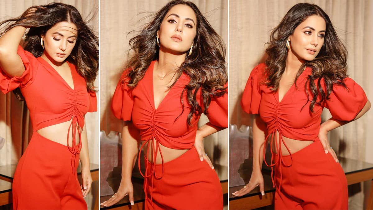 Hina Khan Makes Your Heart Skip A Beat in Hot Red Jumpsuit