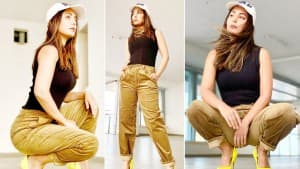 Hina Khan's Swag and Style In Yellow Heels Is Unbeatable   Check Latest Pictures