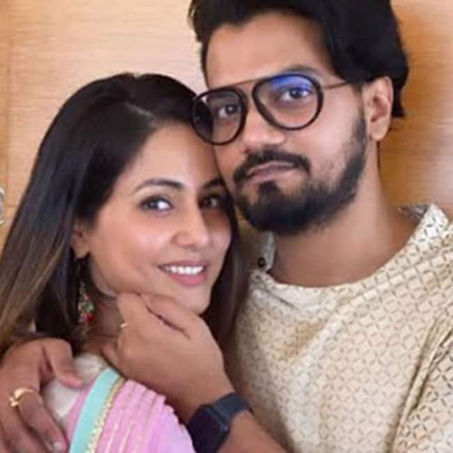 Hina Khan Rocky Jaiswal Mushy Pictures Are Perfect Couple Goals