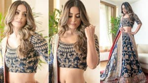 Hina Khan Looks Magnificent in a Velvet Lehenga, Fans Call Her 'Princess'