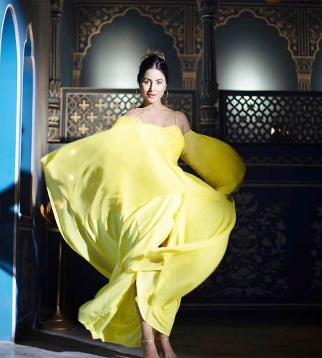 Hina Khan Shines Bright In Her New Yellow Dress