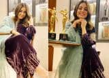Hina Khan Shines in Velvet Ethnic Wear, Flaunts Her Latest Win