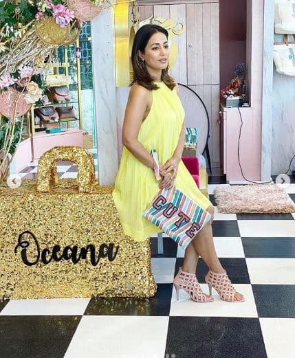Hina Khan surprises everyone with oh so hot pictures in neon yellow dress