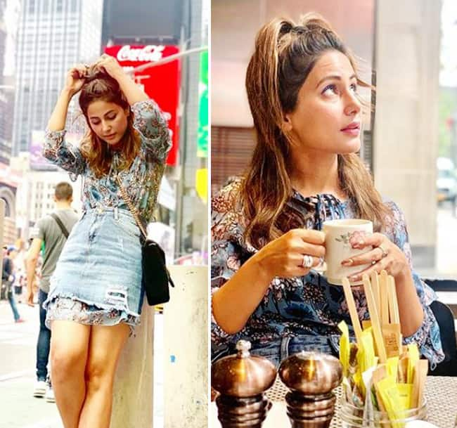 Hina Khan Vacays in New York With Beau Rocky Jaiwal