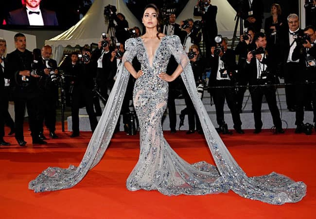Hina Khan Walks The Cannes Film Festival Red Carpet in Gorgeous Grey Gown