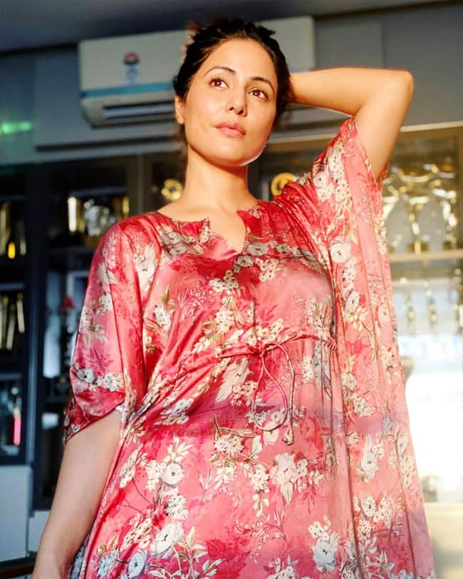 Hina Khan   s must see OOTDs straight from her living room