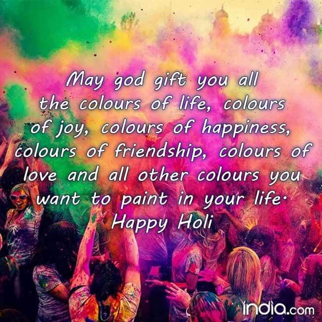 Holi Messages For Your Family And Friends Happy Holi 2018 Holi