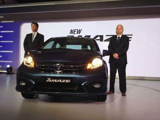 Honda Cars India has launched the new Honda Amaze in India priced between INR 5 30 lakh to INR 8 20 lakh  ex showroom Delhi   The car receives extensive interior  amp  exterior design updates a quiet a few nifty features