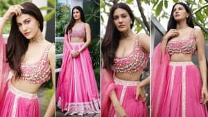 Amyra Dastur is Slaying the Internet with Her Pink Lehenga on Bagheera's Trailer Launch | See Pictures