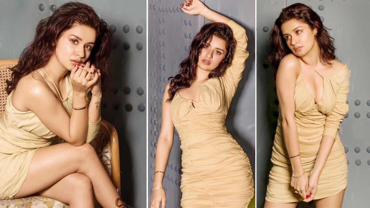 Hot Photos  Avneet Kaur Looks Amazing In Little Body Hugging Beige Dress