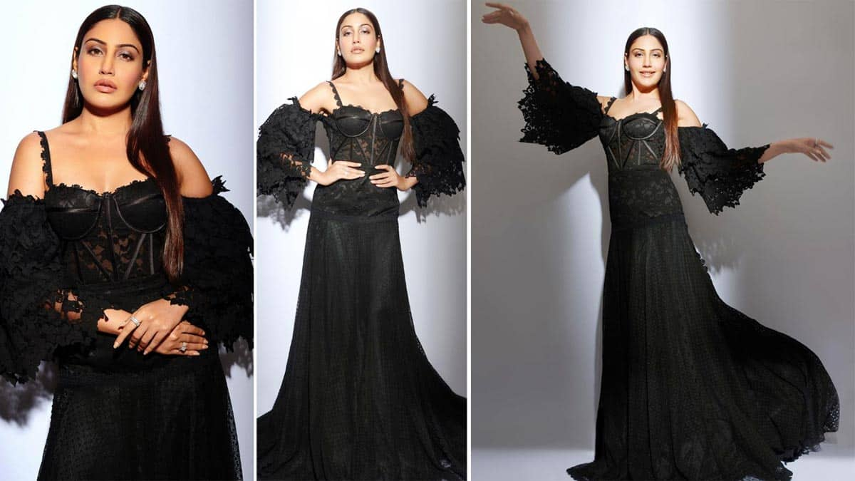 Hot Photos  Surbhi Chandna Looks Enchanting In Sheer Black Gown