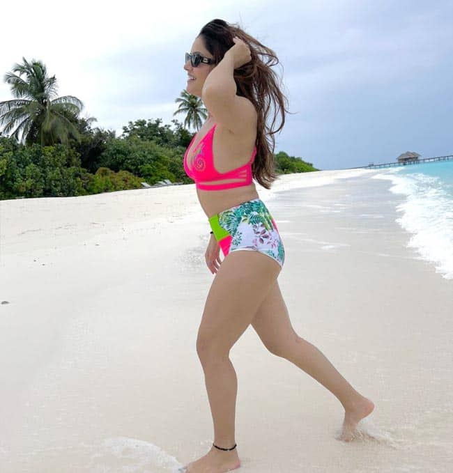 Hot Pics: Rubina Dilaik Is Having a Beach Vacay in Maldives In Sexy Neon Bikini