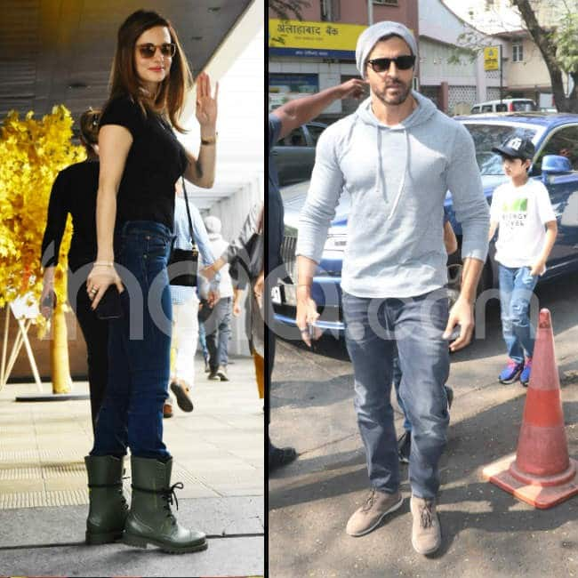 Hrithik Roshan and ex wife Sussanne got clicked