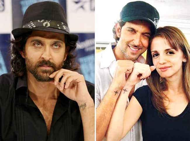 Hrithik Roshan     Sussanne Khan once got each other   s name tattooed on their wrists