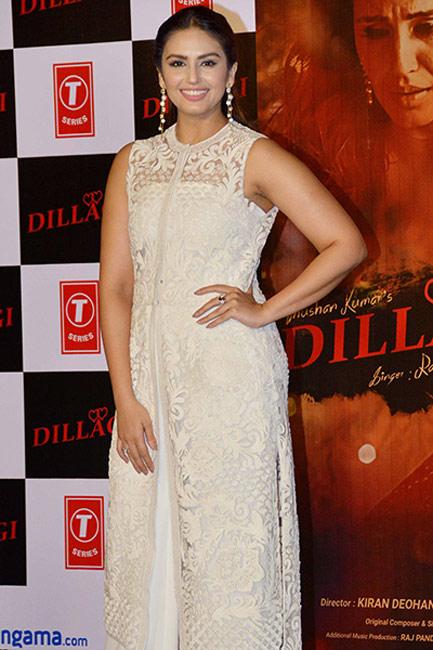 Huma Qureshi during launch of    Tumhe Dillagi    song