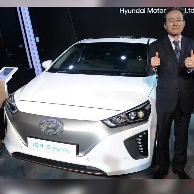 Hyundai Ioniq Electric unveiled at Auto Expo 2018