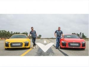 Audi R8 V10 Plus with Virat Kohli: Photo Gallery