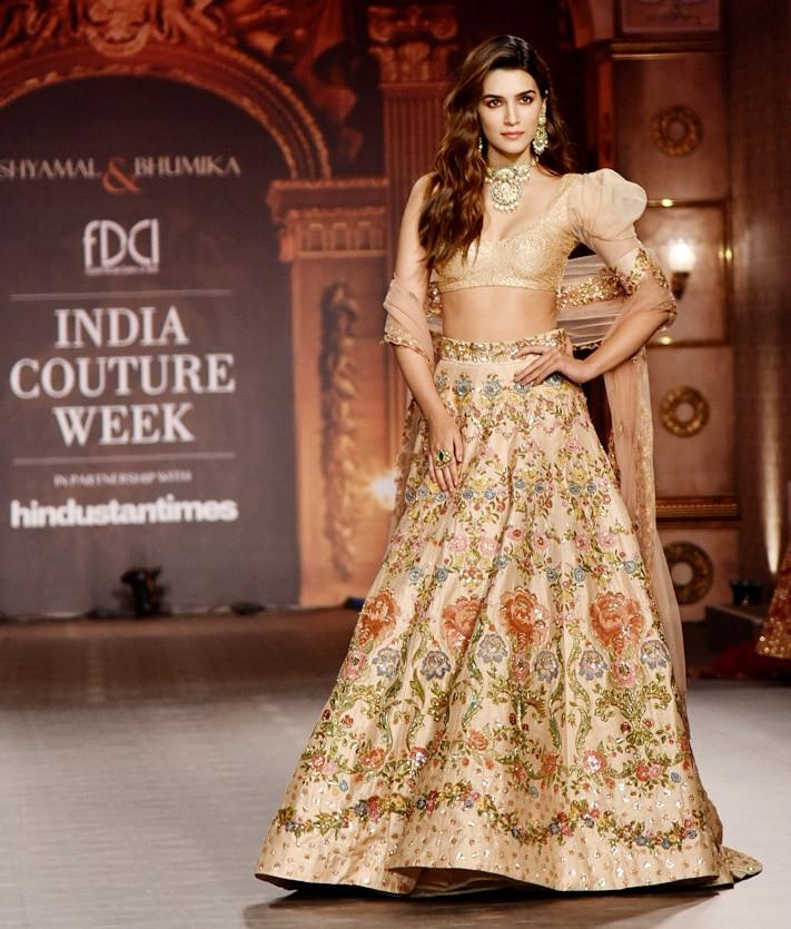 India Couture Week 2019  Kriti Sanon walks for Shyamal and Bhumika