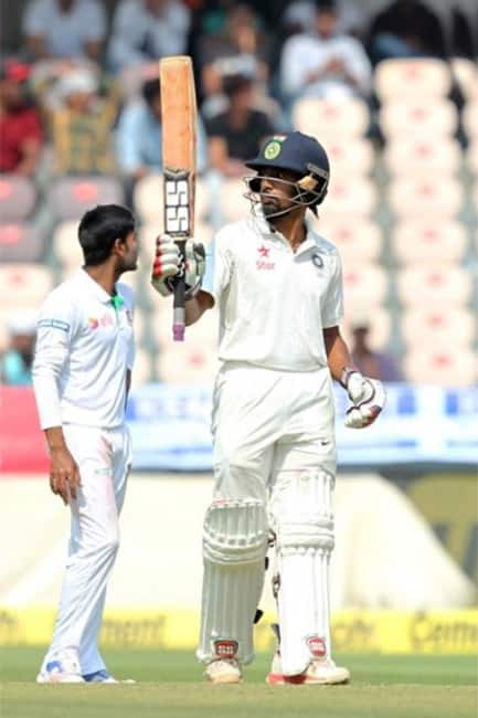 India declare their first innings at 687 6 during ongoing one off Test against Bangladesh in Hyderabad