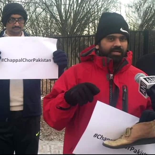 Indian Americans protest outside Pakistan embassy in the US