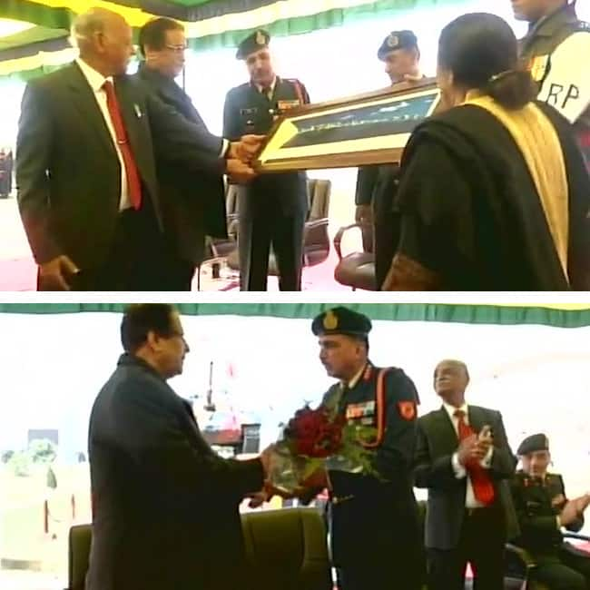 Indian Army gifts T 55 tank to MA Johar University