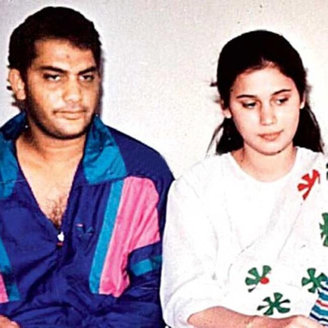 Indian cricketer Mohammad Azharuddin with firts wife Naureen